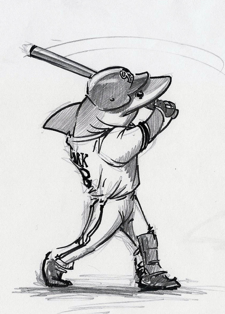 Baseball Shark by RobtheDoodler