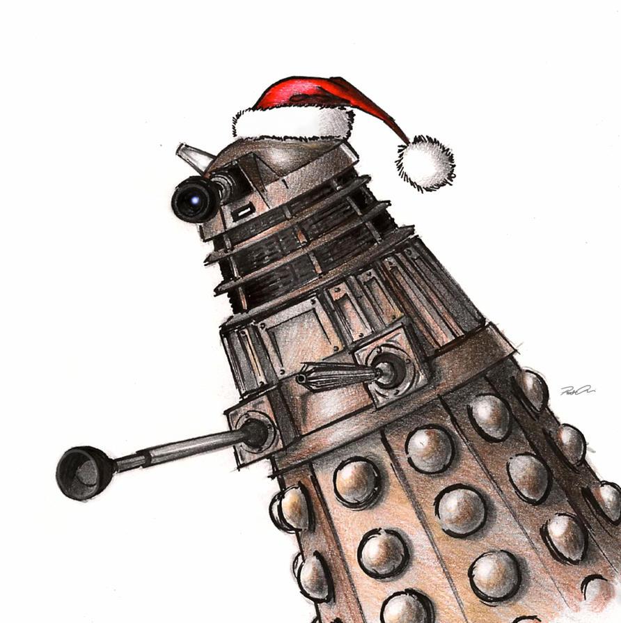 Christmas Dalek by RobtheDoodler on DeviantArt