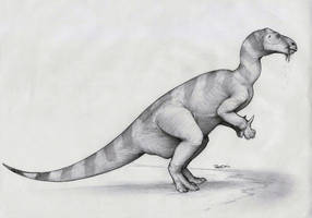 Iguanodon by RobtheDoodler