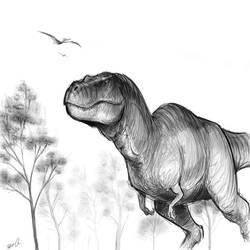 Tyrannosaurus sketch