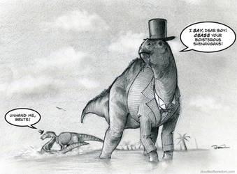 RIP Horatio Hadrosaur by RobtheDoodler