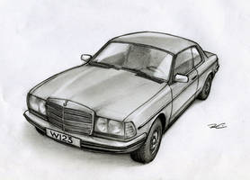 Mercedes Benz W123 by RobtheDoodler