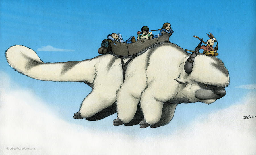 Appa In Flight by RobtheDoodler