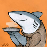Pie Shark by RobtheDoodler