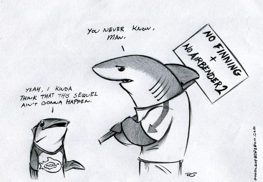 Land Shark Protest by RobtheDoodler