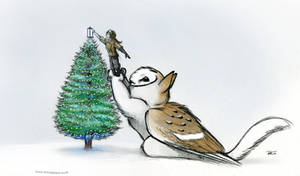 Merry Christmas Owl Griffin