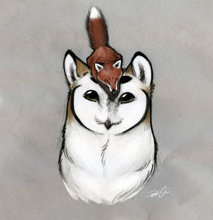 Owl Griffin and fox