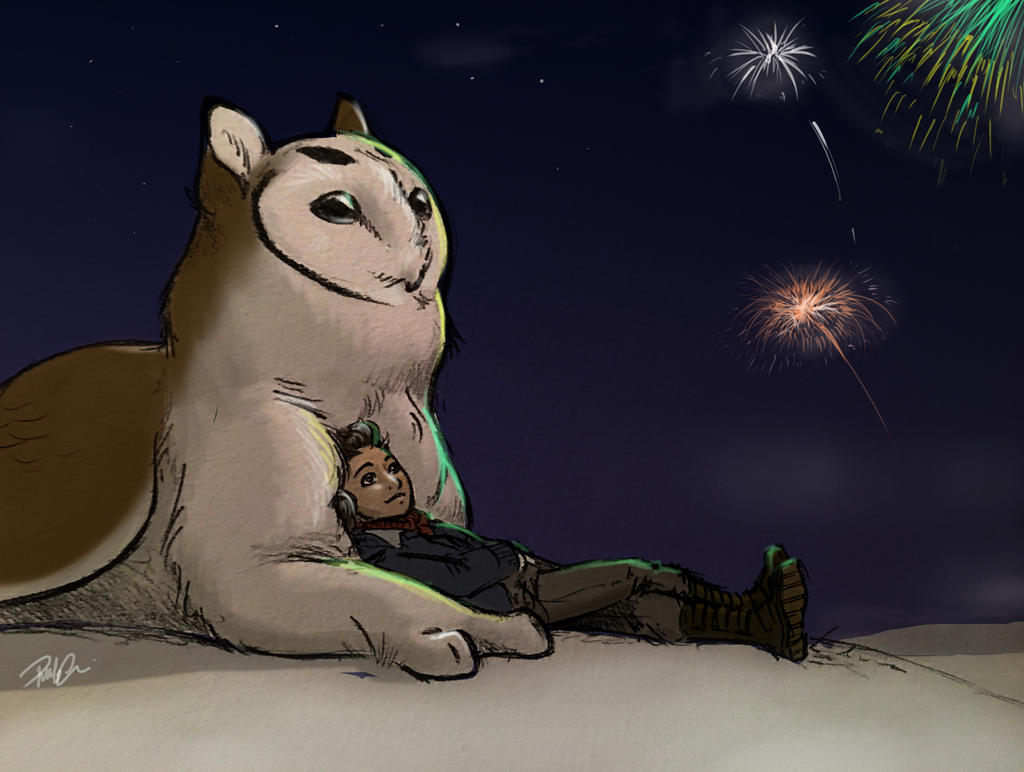 Owl Griffin New Year by RobtheDoodler