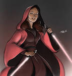 A really pink Jedi (or Sith?)