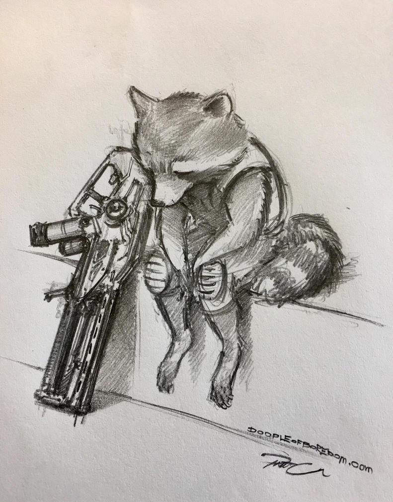 A Sad Rabbit by RobtheDoodler