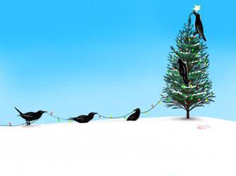 Christmas Crows