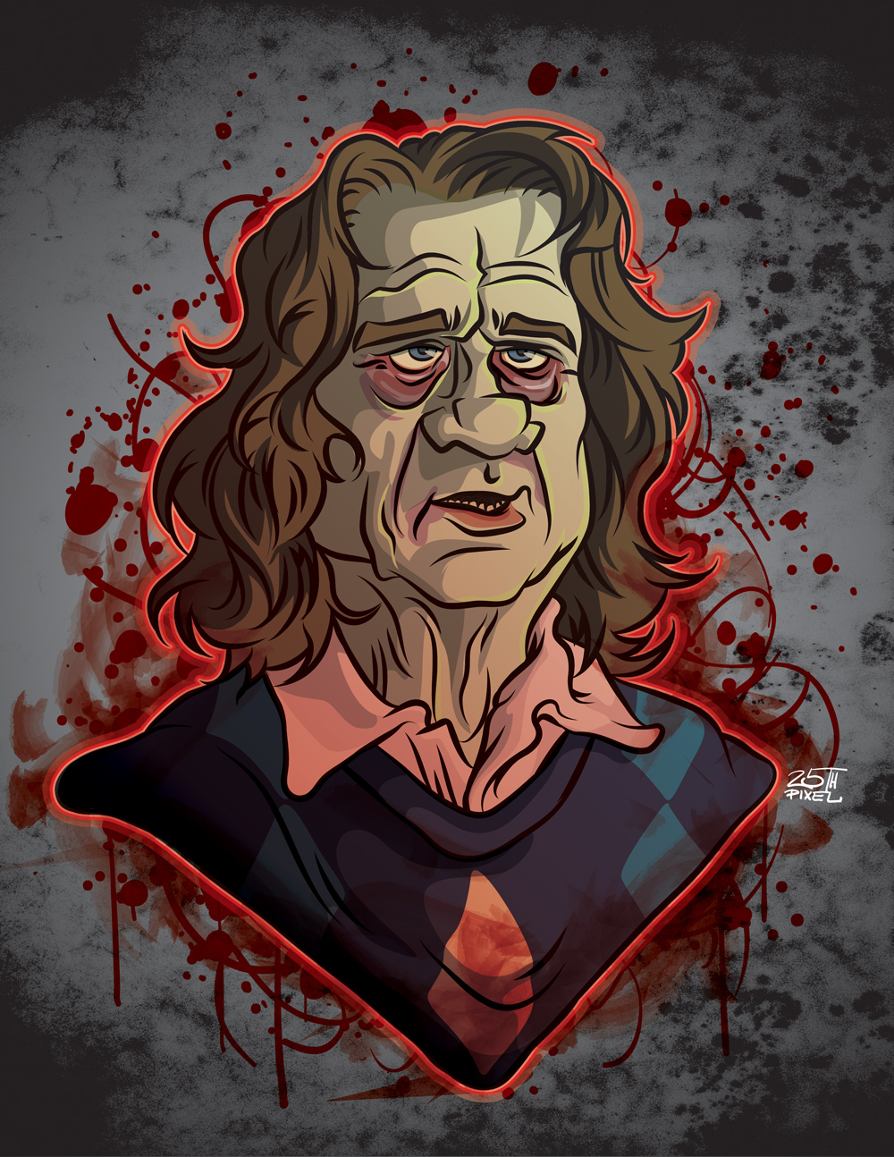 Zombie Bill Murray by 25thPixel