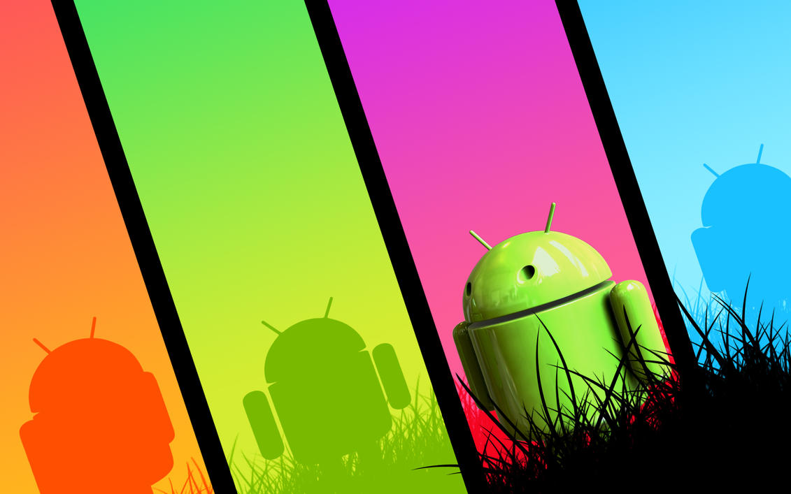 Pantalla 3d Para Cualquier TelÉfono Android: 3D Android Wallpaper Colourful By HappyBlueFrog On DeviantArt