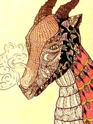 Zentangled Dragon