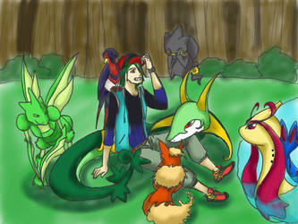Luca Orlem as a Pokemon Trainer