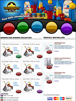 Toy Store Mockup Site