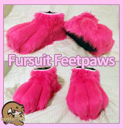 Canine Fursuit Feetpaws by Que-Sera-Sera