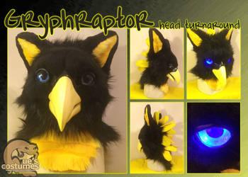 Gryphraptor Head Turnaround by Que-Sera-Sera