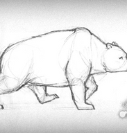 Bear walking cycle by Tanita-sama