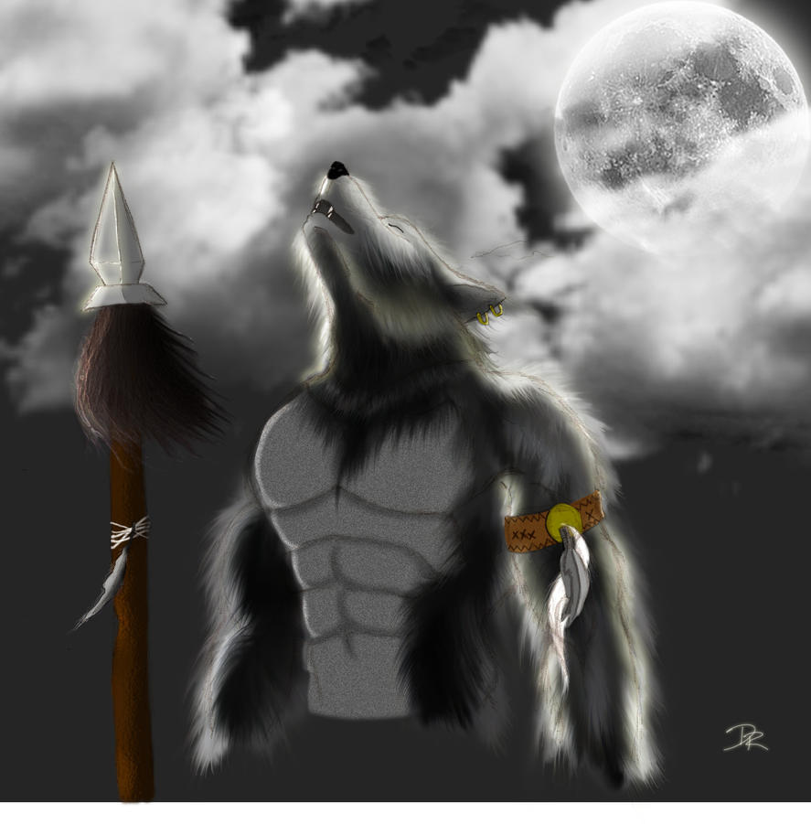 warrior resting with wolf - photo #17