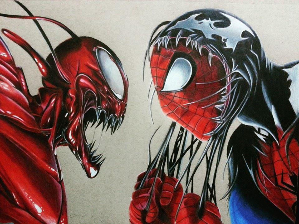 Spiderman vs carnage drawings - photo#40