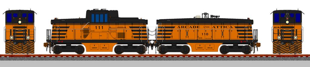 Arcade (and) Attica 44-ton Based Mother-Slug Set by jgallaway81