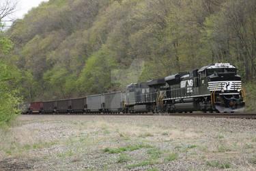 Westbound Empty Coal Train - Tyrone, PA