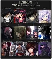 Art Summary: 2016 by Elsiikun