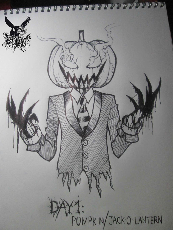 ink goretober day 1 pumpkin jack o lantern by elsiikun on deviantart