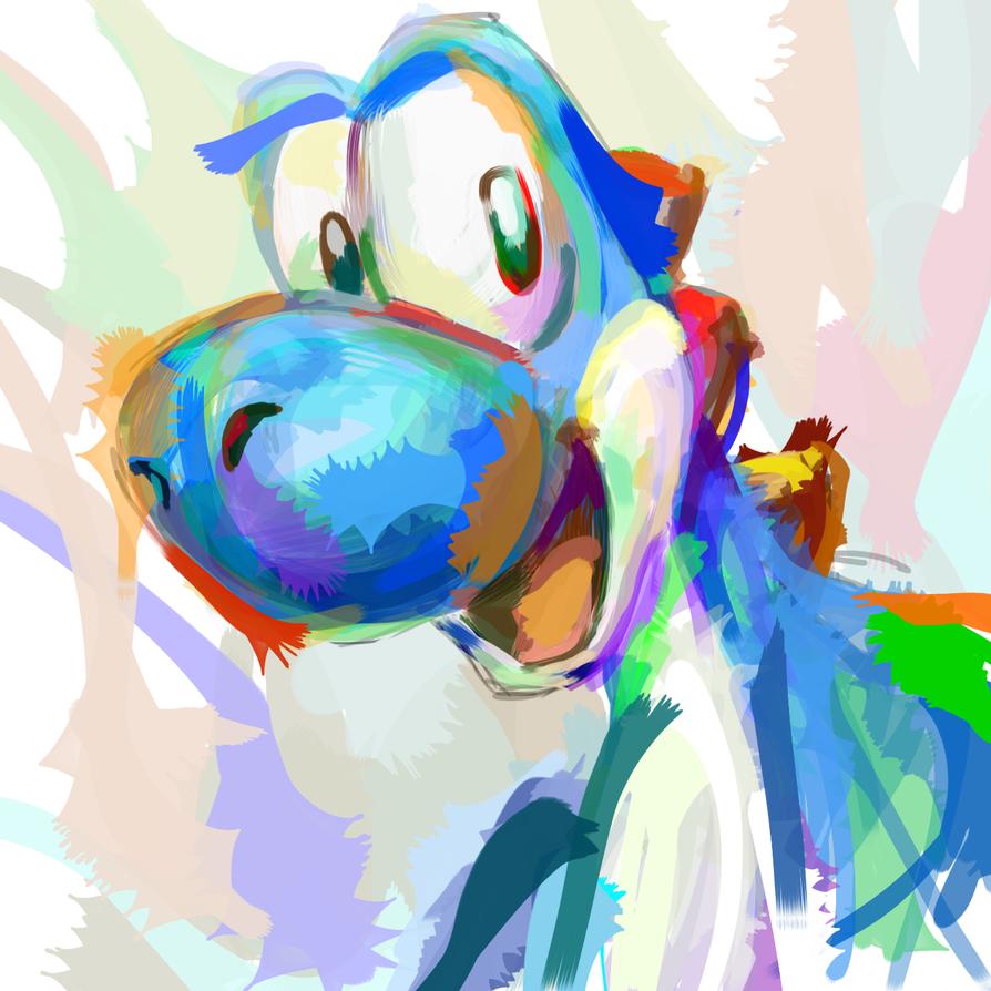 Colorful Yoshi by YoshiAgent