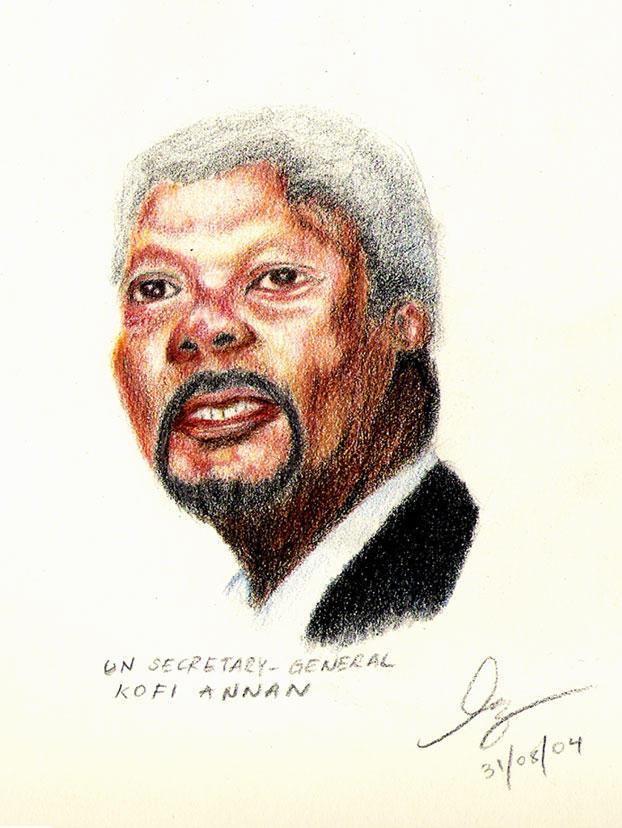 Kofi Annan by Linko