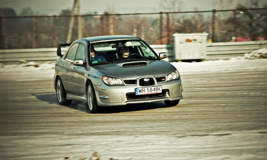 Sliding Subaru by redsunph