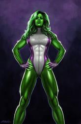 She-Hulk by DoodleMoff