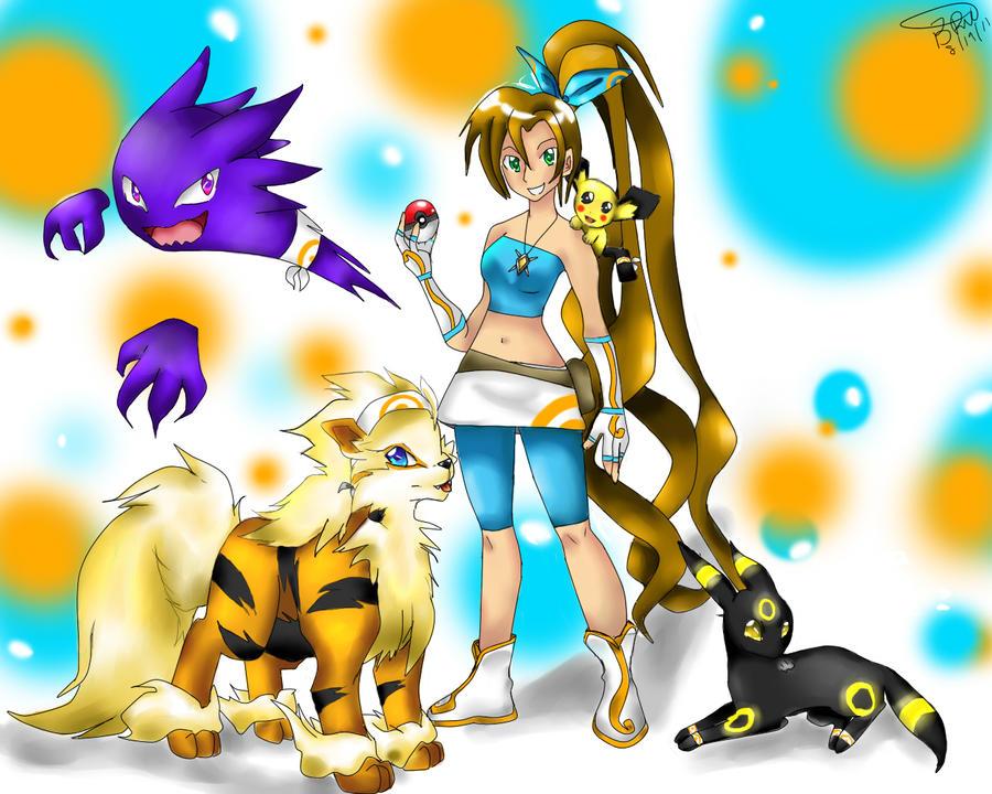 Pokemon Trainer Lily by Ya-aburnee