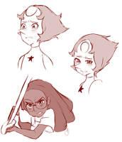 Steven Universe Sketches by SpyrixNya