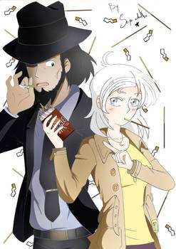 Luna Blanc and Jigen Daisuke