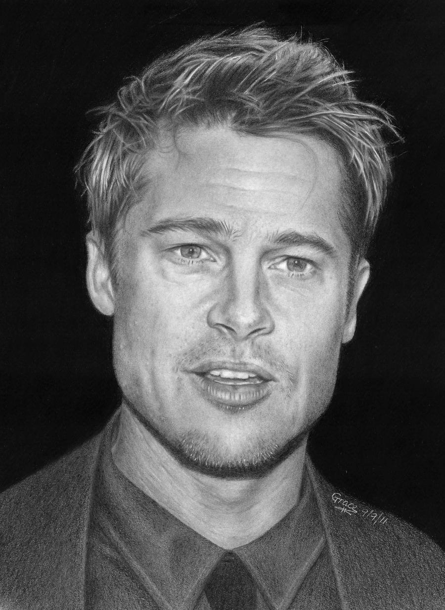 Brad Pitt by MusicSurvivor