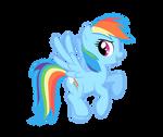 Rainbow Dash VECTORED