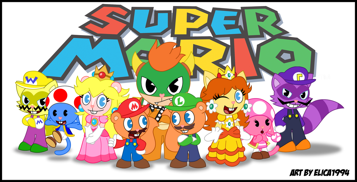 HTF- The Super Mario Family :RQ: by Elica1994 on DeviantArt