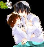 Render Onodera y Takano durmiendo