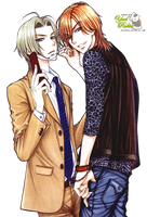 Render:Rei y Shougo by YaelRukia