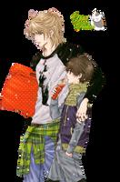Render Haru y Ren by YaelRukia