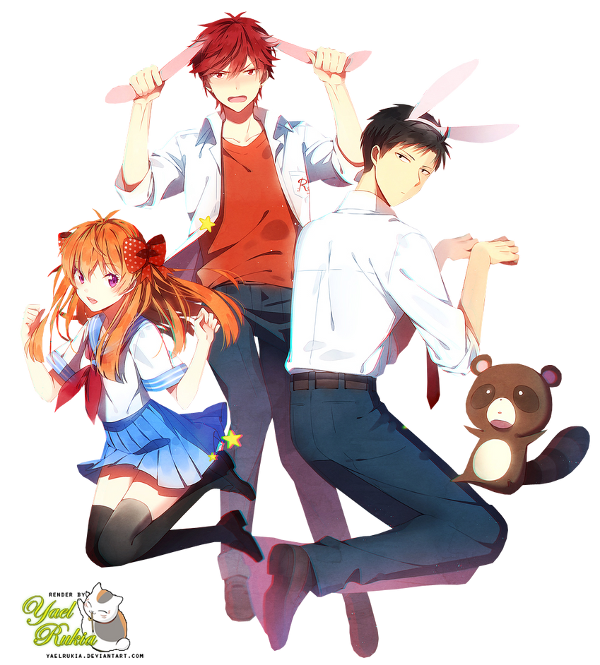 Render-Sakura,Mikorin,Nozaki by YaelRukia