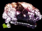Render: Hiiragi Shinya y Byakkomaru