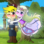 Machinist and his Princess (Spirit Tracks) by LuanaGMTeixeira