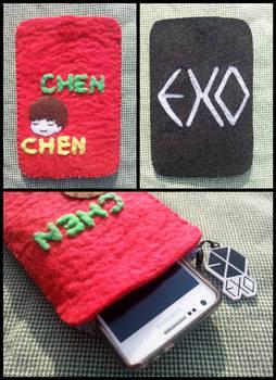 exo chen felt phone case