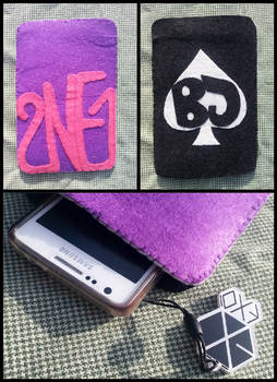 2ne1 felt phone case