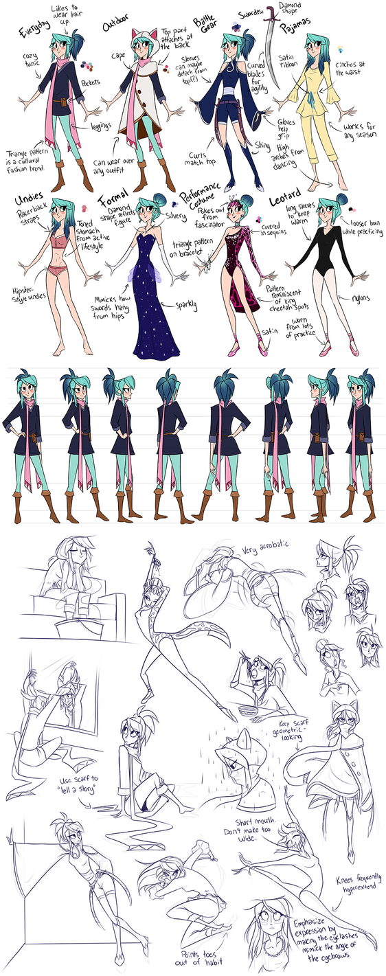 Nyx Character Design Sheet by FancyH-Art