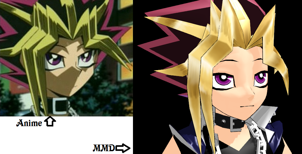anime vs mmd yami pout by eripmav darkness on deviantart