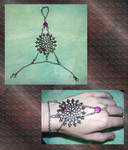 Gothic Web Slave-Bracelet by Poetic-Dragon